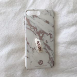 LOOPY Rose Gold Marble iPhone 7 Plus Case